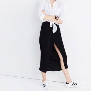Madewell black maxi skirt